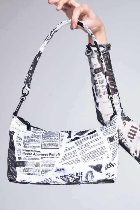 Newspaper Print Purses