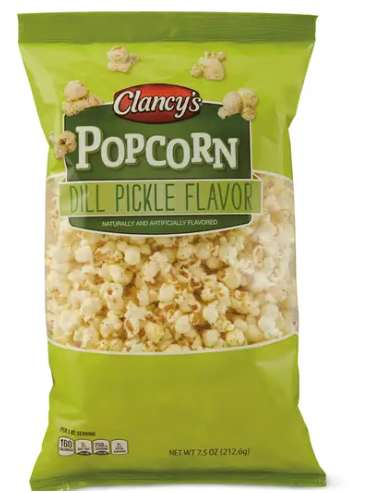 Dill Pickle Popcorn Snacks