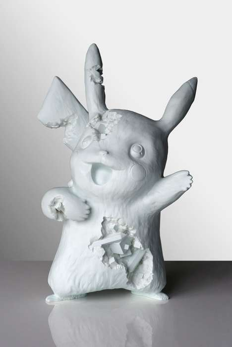 Crystallized Cartoon Sculptures