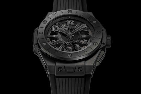 Blacked-Out Collaboration Timepieces