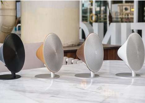 Conical Modernist Speakers