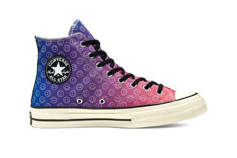 Smiley Face-Adorned Canvas Shoes