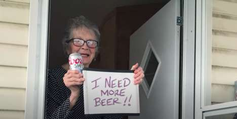 Humorous Beer-Buying Promotions
