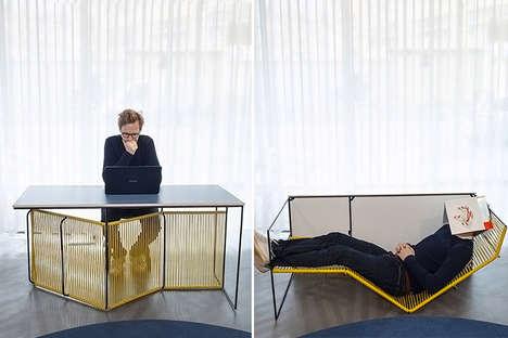 Dual-Purpose Desk Chaises