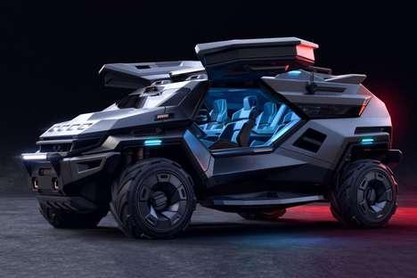 Protective Futuristic SUVs