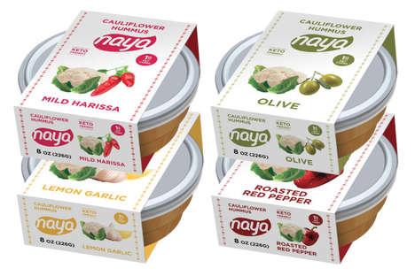 Cauliflower-Based Hummus Dips