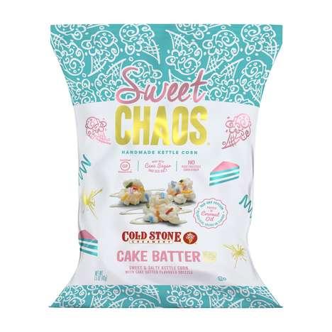 Cake Batter Popcorn Snacks