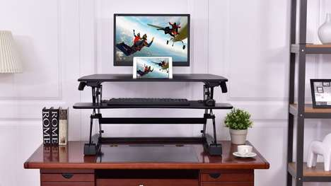 Ergonomic Dual-Position Desk Units