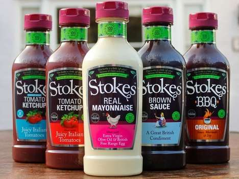 Entirely Recycled Sauce Bottles