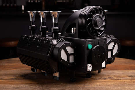 Engine-Inspired Espresso Machines