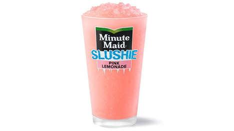 Summery Pink Lemonade Slushies