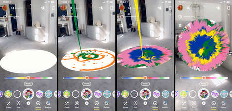 Spinning AR Paintings