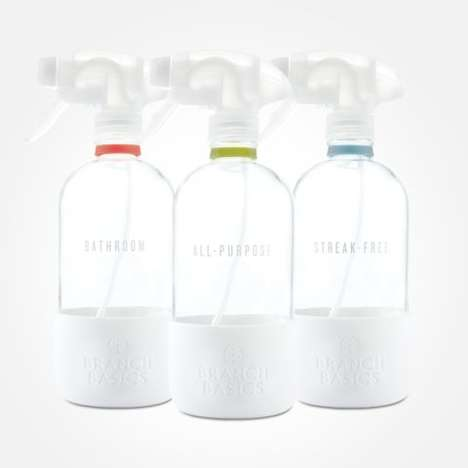 Recyclable Glass Cleaning Bottles