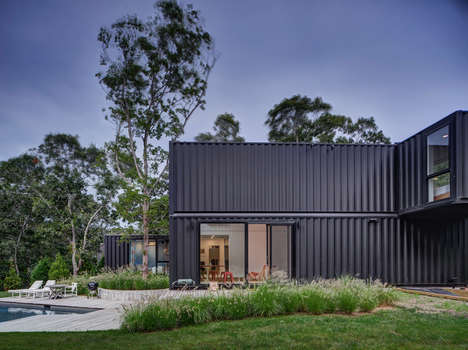 Stacked Shipping Container Homes