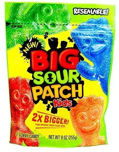Supersized Sour Candies