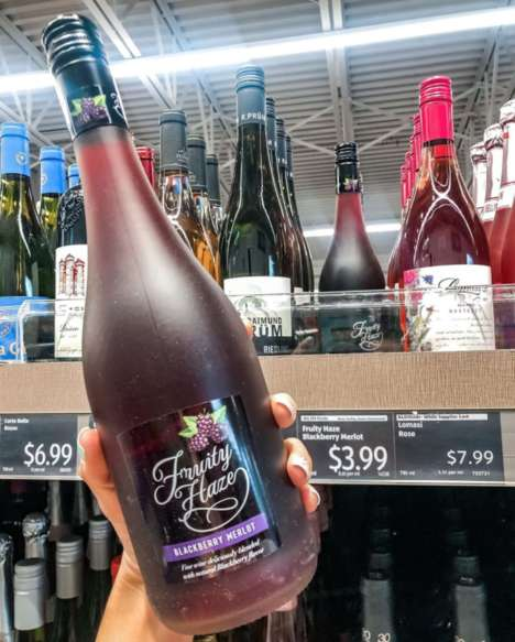 Blended Blackberry-Flavored Wines
