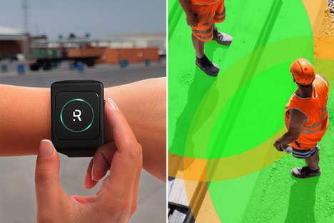 Proximity-Monitoring Health Wearables