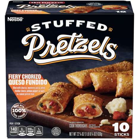 Queso-Stuffed Pretzel Sticks