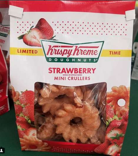 Twisted Mini Strawberry Donuts