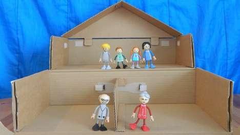 Recyclable Cardboard Dollhouses
