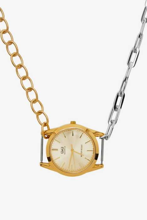 Chained Necklace Timepieces