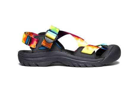 Psychedelic Tonal Sandals