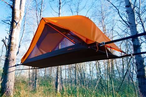 Stable Suspended Camping Shelters