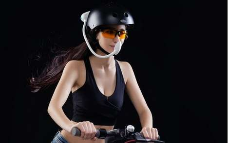 Cyclist Helmet Air Purifiers
