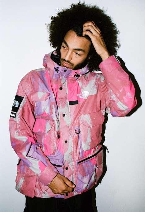 Paint Splatter-Printed Streetwear