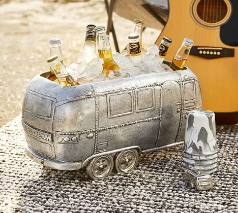 Vintage Camper-Themed Coolers