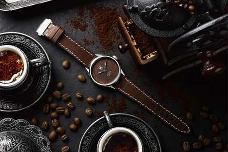 Ground Coffee-Made Timepieces