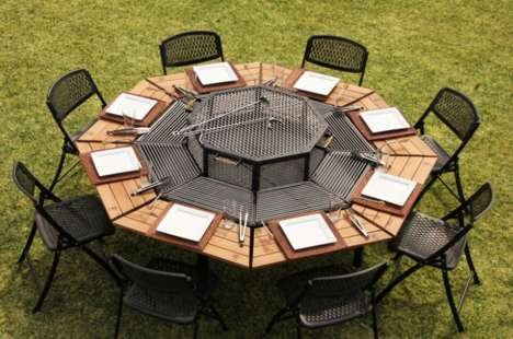 Octagonal Grill Tables