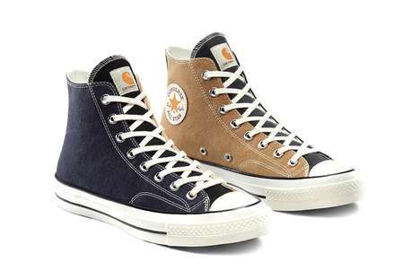 Upcycled Workwear High Tops