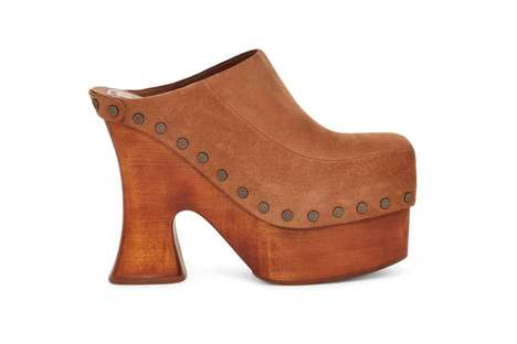 Throwback Wood-Soled Mules
