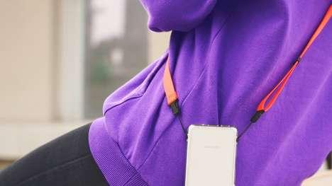 Handsfree Device-Holding Straps