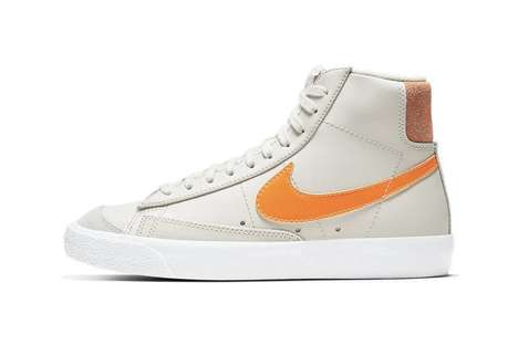 Orange-Accented High Tops