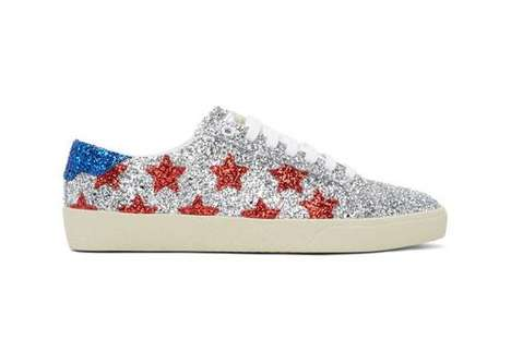 Luxe Patriotic Glittery Shoes