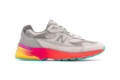 Colorful Midsole Comfy Sneakers