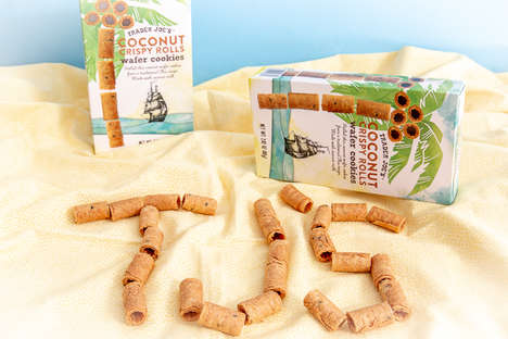 Rolled Coconut Wafer Cookies