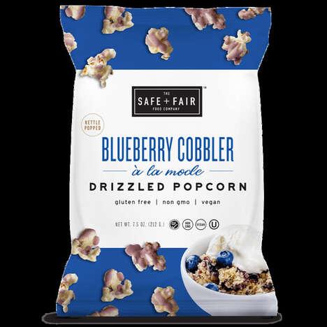 Sweet Blueberry Cobbler Popcorns