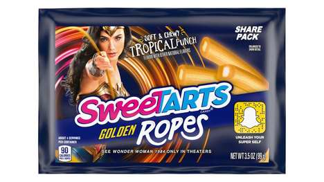 Superhero-Branded Licorice Ropes