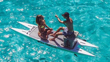 Sturdy Compact Aquatic Catamarans