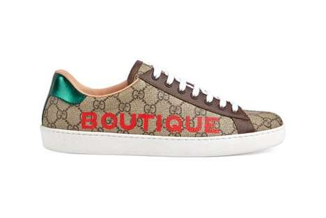 Luxe Logo-Printed Sneakers