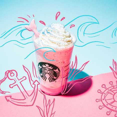 Fantastical Mermaid Frappuccinos