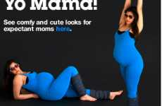Maternity Aerobics Fashion - American Apparel Makes Baby Bumps Stylish in Spandex