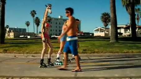 Rollerblading Giraffes