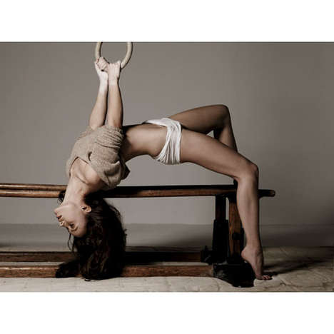 Athletic Editorials - Olivia Wilde Channels a Gymnast for GQ Magazine