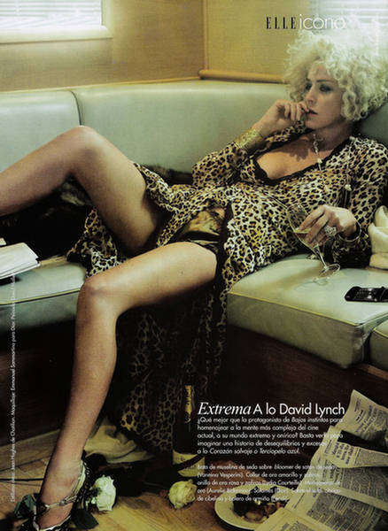 Femme Fatale Editorials - Sharon Stone Plays Muse for Elle Magazine