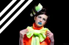 Electric Blue Lipstick - Adidas Editorial Features Loud Color From Head to Toe
