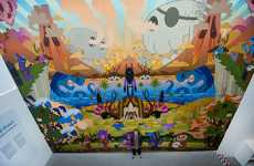 Giant Monster Murals - Pete Fowler's 'Monsterism Island' is Massive